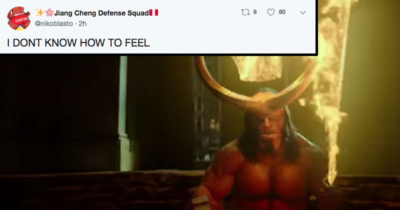 twitter news movies social media ridiculous hellboy reaction funny - 7384325