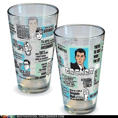 drinking archer glass mug - 7384470528