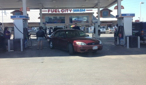 douchebag parkers,gas station,cars,fail nation,g rated