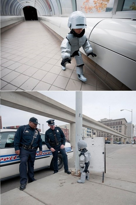 kids,cute,detroit,robocop