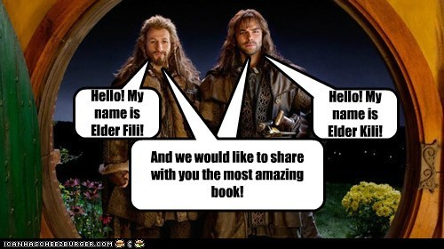 missionaries,fili and kili,The Hobbit