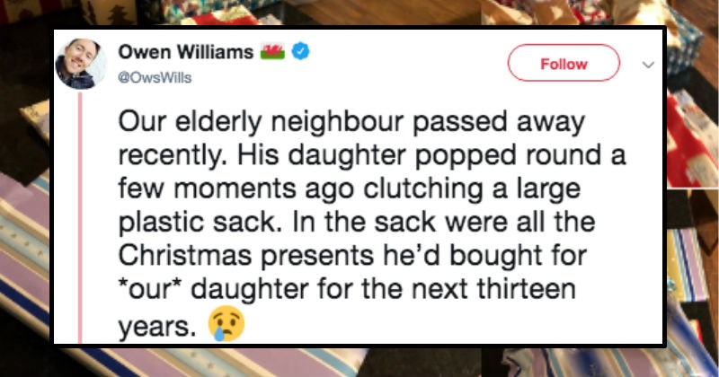 Sad wholesome christmas neighbors twitter present kindness gift story family daughter - 7384837