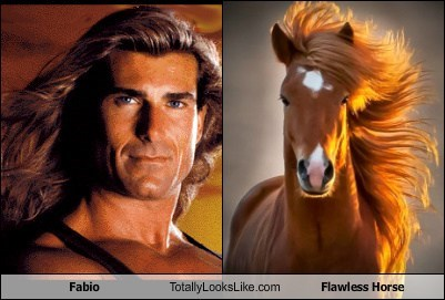 hair fabio totally looks like horse