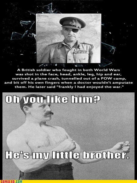 war tough guys family overly manly man
