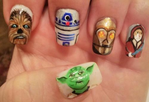 star wars,nail art