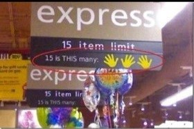 kids,express lane,parenting,funny,counting,grocery store