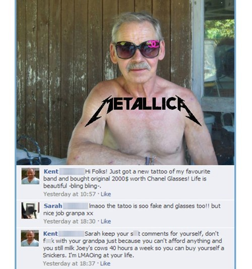 metallica tattoos Grandpa failbook g rated - 7387120128