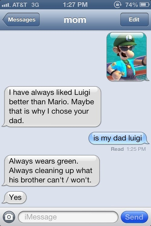 year of luigi,texts,luigi,mario