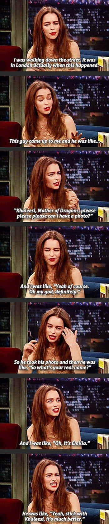 Game of Thrones,Emilia Clarke,interview