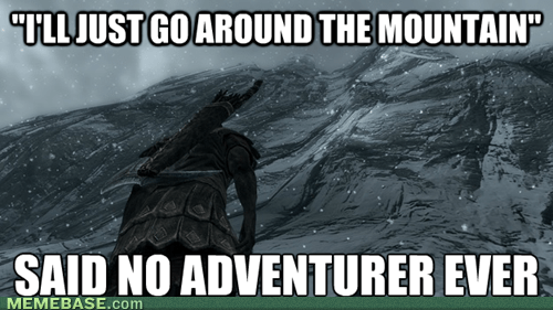 mountains,video games,Skyrim