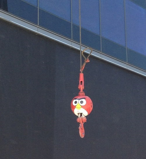 angry birds,construction,hacked irl
