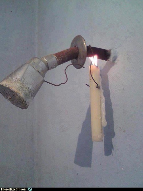 fix it shower candle shower head
