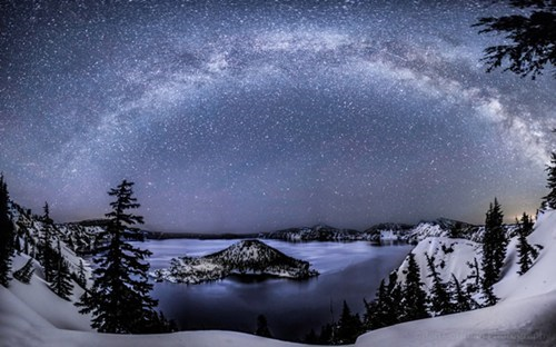landscape stars winter night lake destination WIN! g rated