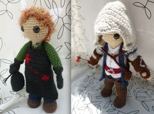 nerdgasm,assassins creed,Amigurumi,video games,Dexter