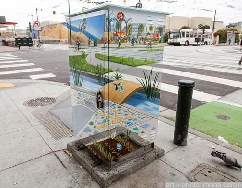 Street Art graffiti hacked irl illusion - 7387847168