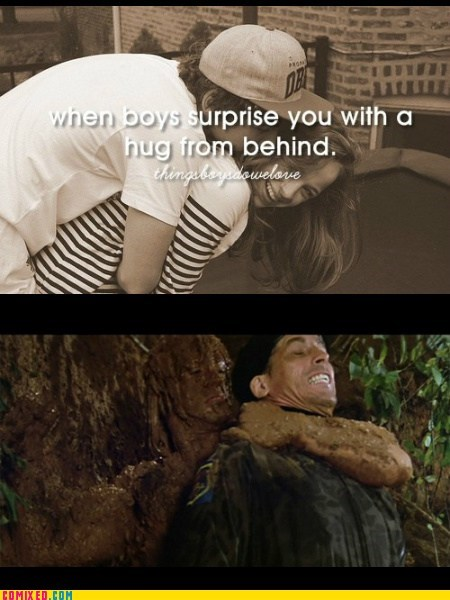 rambo,things boys do,surprise,hugs