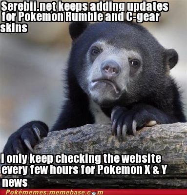 Pokémon Memes serebii Confession Bear - 7389082624