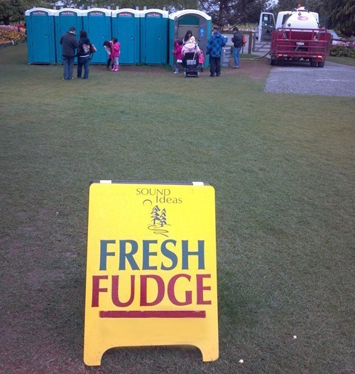 fresh fudge poop outhouse - 7392686336