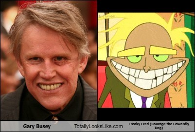 gary busey,freaky fred,totally looks like,cartoons