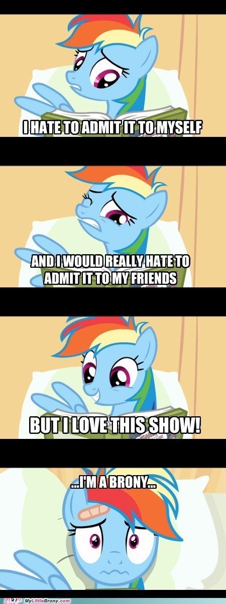 Sad Bronies friends rainbow dash - 7393774592