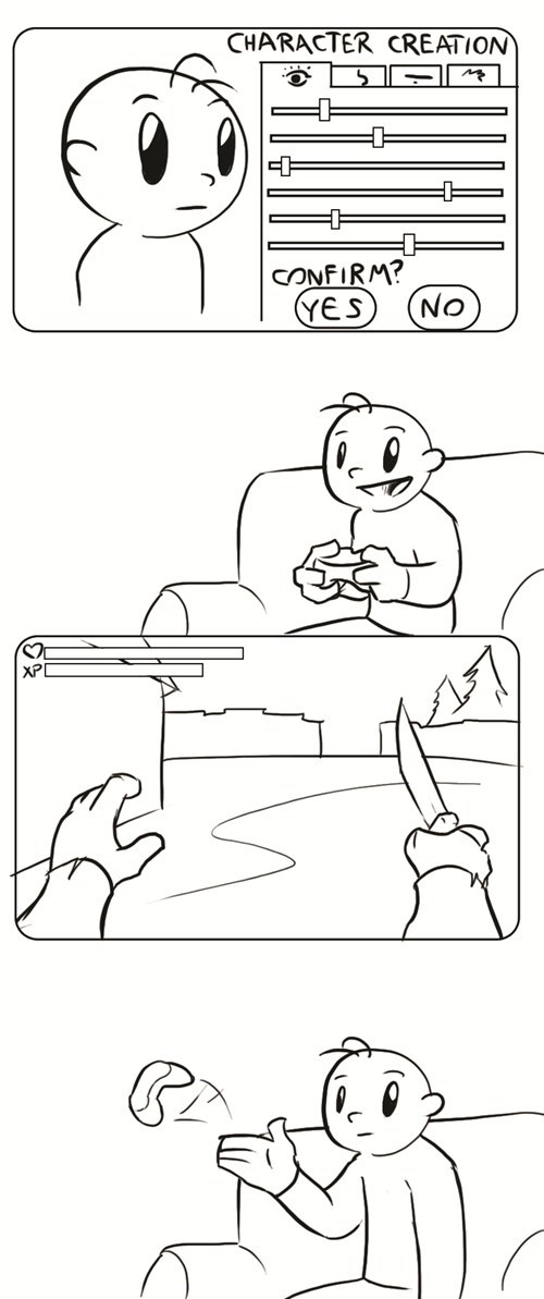first person comics character creation video games