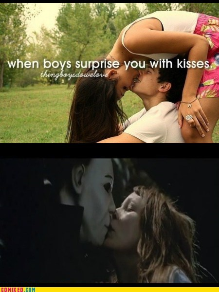 halloween,kisses,things boys do,michael meyers