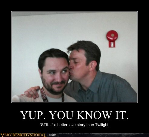 nathan fillion wil wheaton love