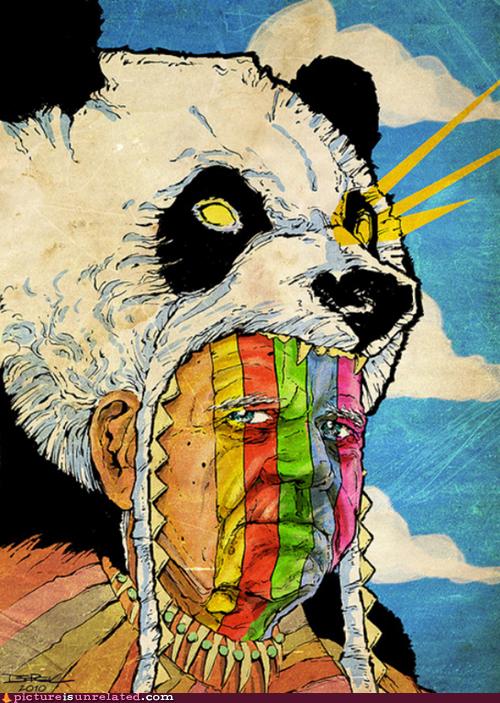 rainbows,wtf,panda