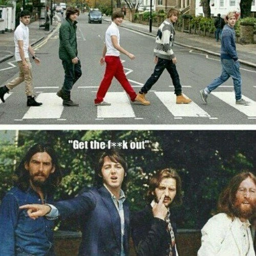 one direction,the Beatles