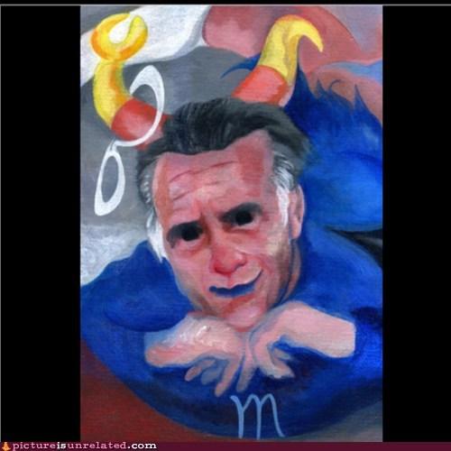 wtf,Mitt Romney,painting,funny