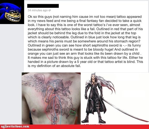 sephiroth,facebook,chest tattoos