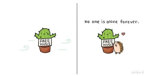 comics,chibird,cactus,alone,dating