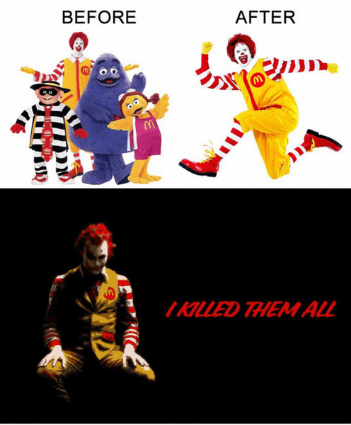 McDonald's,Before And After,ronald mcdonalds