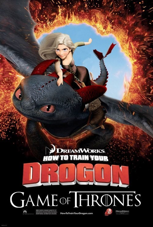 crossover Game of Thrones How to train your dragon - 7400473856