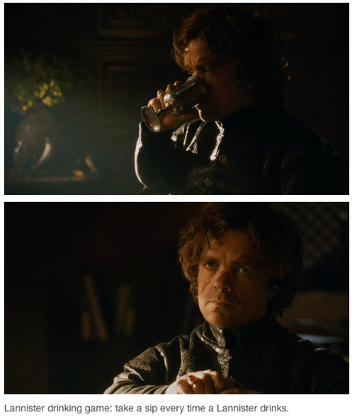 Game of Thrones,Lannisters,drinking games