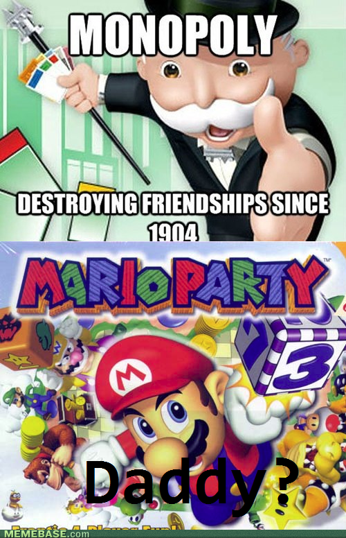 mario party,monopoly,video games