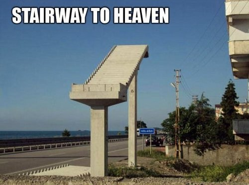 stairs stairway to heaven jesus take the wheel - 7401078784