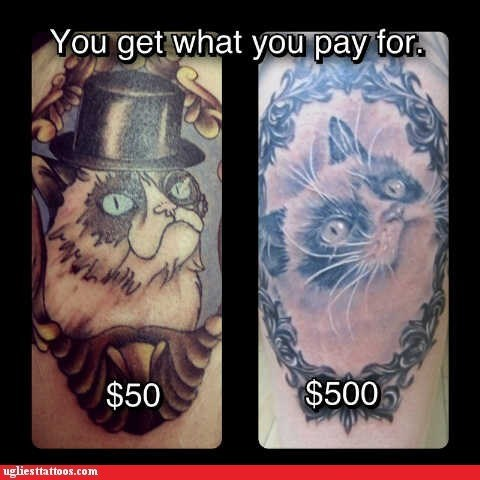 Grumpy Cat,you get what you paid for