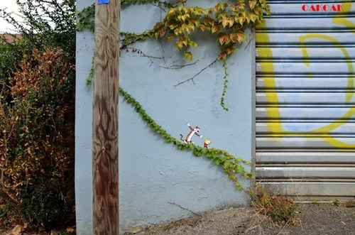 calvin and hobbes Street Art graffiti hacked irl