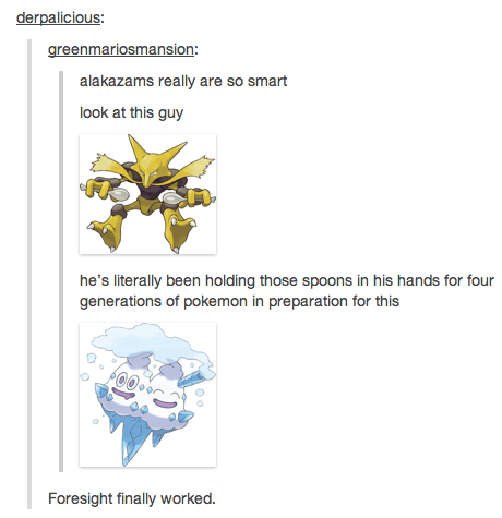 Pokémon tumblr alakazam foresight - 7401344256