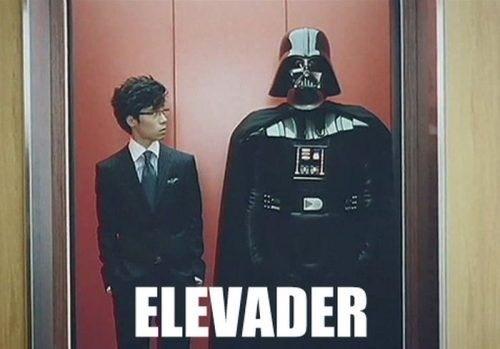 elevator,darth vader