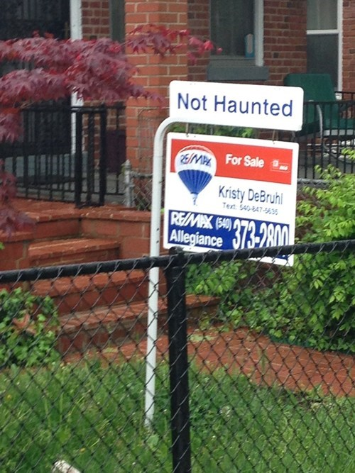 not haunted real estate monday thru friday g rated - 7401522944