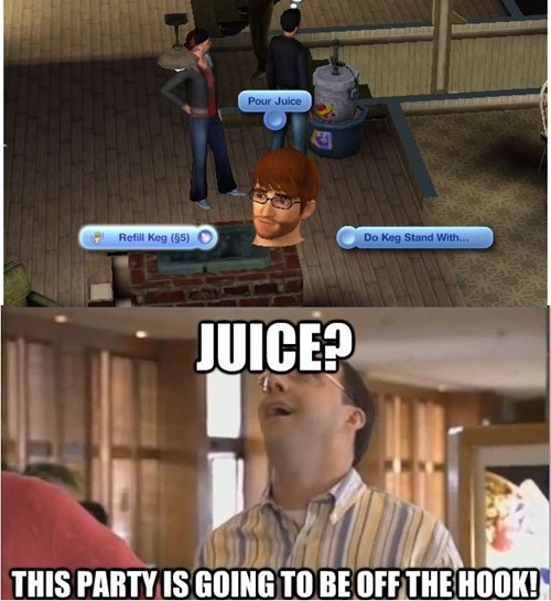 buster,arrested development,The Sims,juice