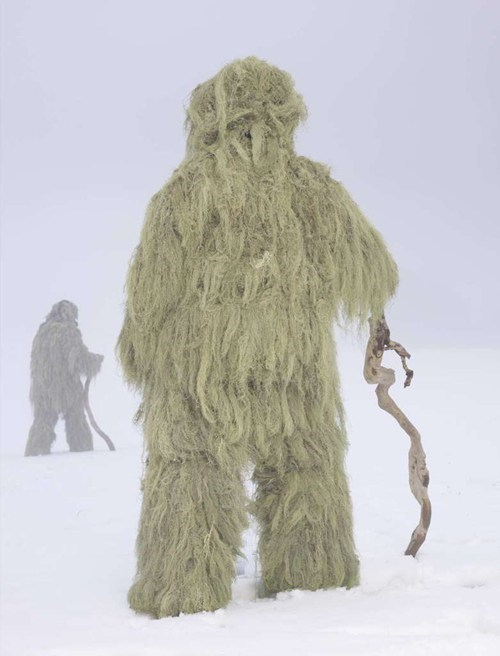 wtf moss snow costume mountains