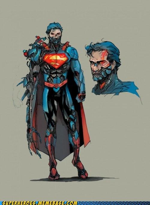 art awesome cyborg superman - 7401886976