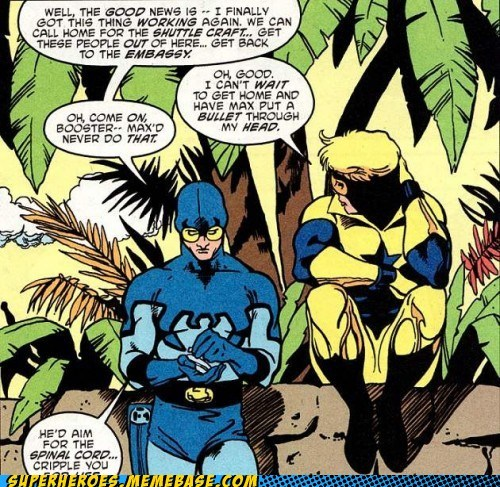 blue beetle,off the page,booster gold