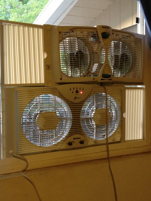 fans funny there I fixed it air conditioner