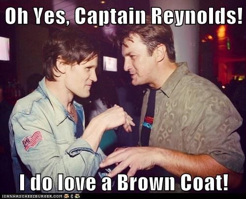 nathan fillion,Matt Smith,doctor who,Firefly