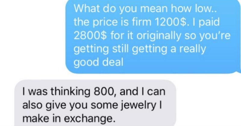 single mother tries to guilt seller on christmas