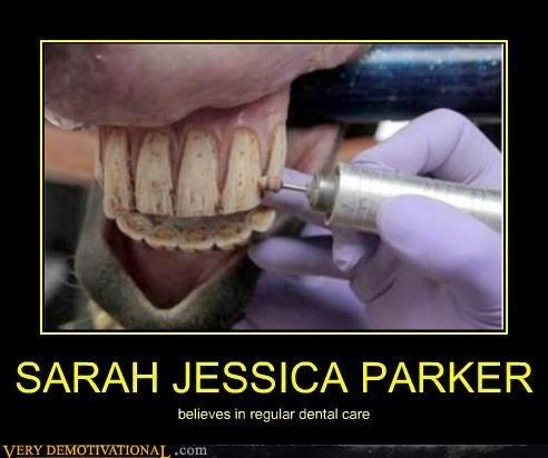 sarah jessica parker teeth horse - 7404987648